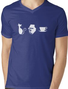 Cats, Books, and Coffee Mens V-Neck T-Shirt