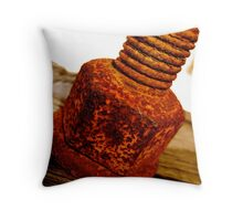 Rusted Bolt Throw Pillow
