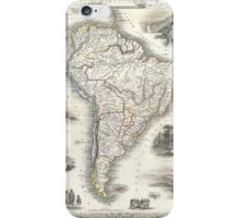 Vintage Map of South America (1850) iPhone Case/Skin