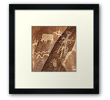 Newspaper Rock .3 Framed Print
