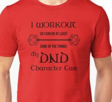 DnD Character Workout - in black Unisex T-Shirt