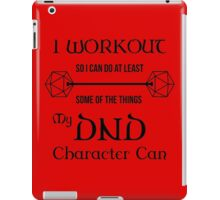 DnD Character Workout - in black iPad Case/Skin