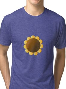 Sunflower Graphic Design, Brown and Yellow Nature Tri-blend T-Shirt