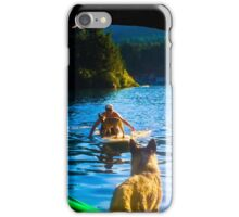 Paddle Board with Dog iPhone Case/Skin