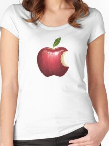 Big Red Apple Women's Fitted Scoop T-Shirt