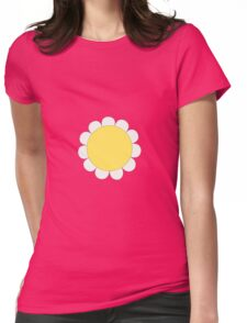 Daisy Graphic Design, White and Yellow Nature Womens Fitted T-Shirt