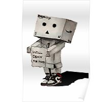 Danbo Drawing Poster