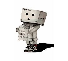 Danbo Drawing Photographic Print