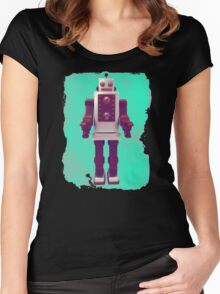 old robot Women's Fitted Scoop T-Shirt