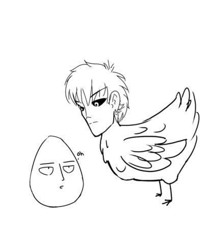 Egg punch man Sticker
