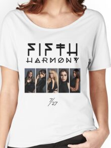 Fifth Harmony 7/27 Portrait #BlackText Women's Relaxed Fit T-Shirt