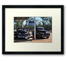 Merc & Jail Bar Framed Print