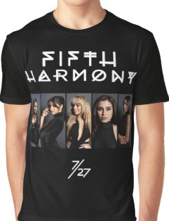 Fifth Harmony 7/27 Portrait #WhiteText Graphic T-Shirt