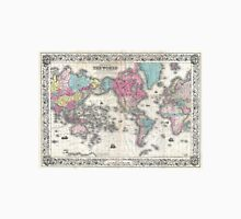 Vintage Map of The World (1852) Unisex T-Shirt