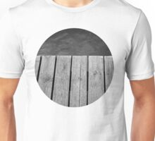 Black and White Jetty Unisex T-Shirt