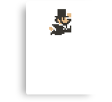 Abraham Lincoln in 8-Bits Canvas Print