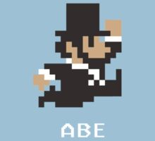 Abraham Lincoln in 8-Bits Kids Tee