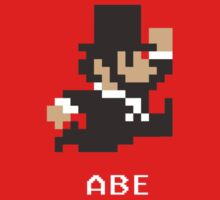 Abraham Lincoln in 8-Bits One Piece - Short Sleeve