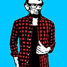 Hipster Abraham Lincoln by monsterplanet