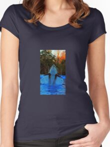 Cute Daddy Orca In Flight Women's Fitted Scoop T-Shirt