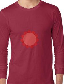 Pink Sunflower Graphic Design Long Sleeve T-Shirt
