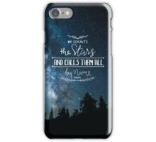 He Counts The Stars And Calls Them All By Name Psalm 147:4 iPhone Case/Skin