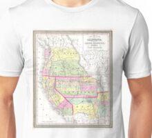 Vintage Map of The Western United States (1853)  Unisex T-Shirt