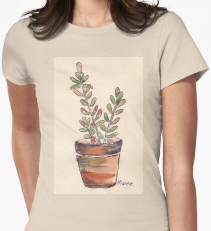 Sedum rubrotinctum - Jelly beans Womens Fitted T-Shirt