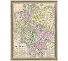 Vintage Map of Germany (1853) Photographic Print