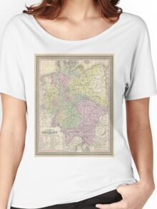 Vintage Map of Germany (1853) Women's Relaxed Fit T-Shirt