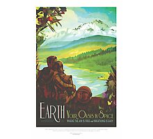 Explore Earth - Travel Poster Photographic Print