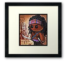 "WADDLING DEAD ""Sword Lady"" POOTERBELLY Framed Print"