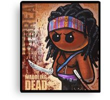 """WADDLING DEAD """"Sword Lady"""" POOTERBELLY Canvas Print"""