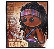 """WADDLING DEAD """"Sword Lady"""" POOTERBELLY Poster"""