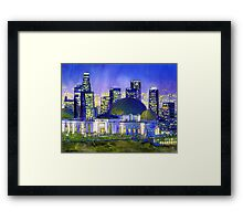 Griffith Park Observatory with LA Nocturne Framed Print