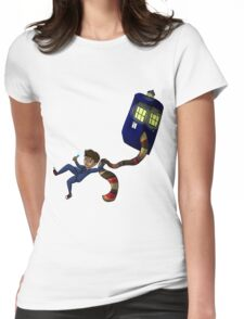 Tenth Doctor Fanart Womens Fitted T-Shirt