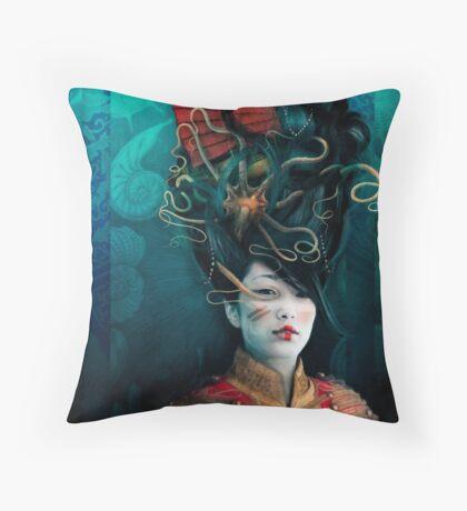 Queen of the Wild Frontier Throw Pillow