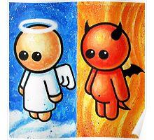 ANGEL DEVIL POOTERBELLIES Poster
