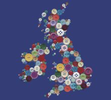 UK and Ireland Button T by creativemonsoon
