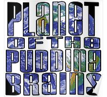 Planet of the Pudding Brains Poster
