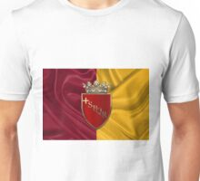 Coat of arms of Rome over Flag of Rome Unisex T-Shirt