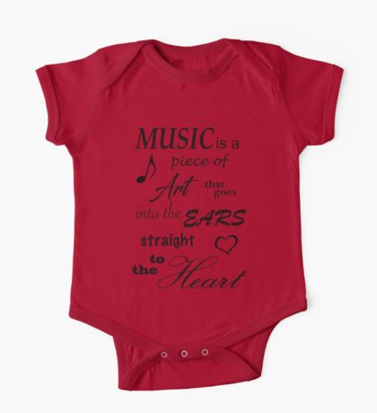 Music Quotes One Piece - Short Sleeve