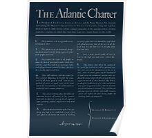 United States Department of Agriculture Poster 0166 The Atlantic Charter Franklin Delano Roosevelt Winston Churchill August 14 1941 Inverted Poster