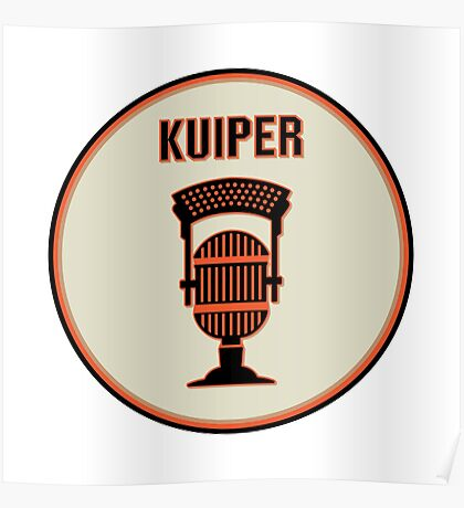 SF Giants Announcer Duane Kuiper Pin Poster