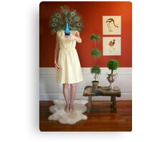 peacock mask Canvas Print
