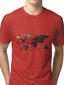 Map of love Tri-blend T-Shirt