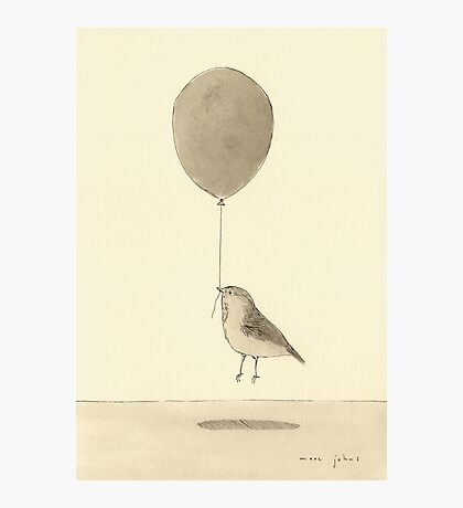 bird with balloon Photographic Print