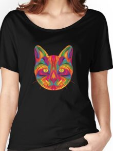 Psychedelic Cat Women's Relaxed Fit T-Shirt