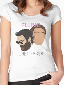 Chet Faker & Flume - Minimalistic Print Women's Fitted Scoop T-Shirt