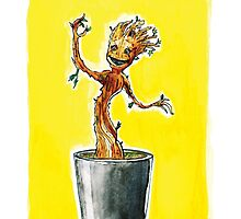 I am Dancing Groot - in Watercolour! by JohnDC